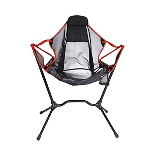 xiaowang Silla plegable para camping, multifuncional, automática, inclinable, para ocio, ligera, para camping, viajes, playa, bolsa de transporte incluida