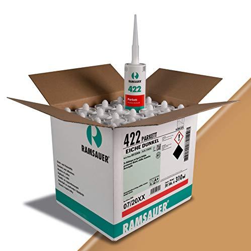 Ramsauer 422 Parkett Acryl - Fugendichtstoff für Holzböden, 20 Stück im Karton (Eiche Dunkel)