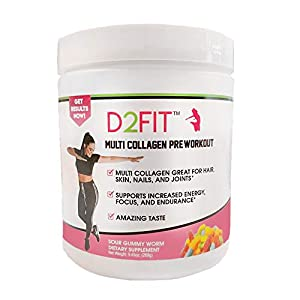 Health Shopping D2Fit (by Jessica Bass) Women's Pre Workout Multi Collagen (2,500mg) + Biotin (150mcg)