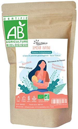 """Tisane d'Allaitement Bio """"Amour Infini"""" - Aide à la lactation – Soulage les coliques de bébé – Rooibos"""