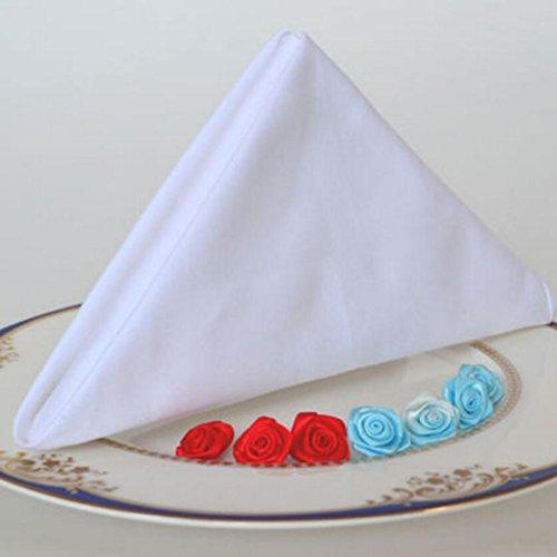 MXJ61 Serviette de table en coton blanc Serviette de table en tissu Serviette de table en tissu blanc ( Couleur : 1 Pcs , taille : 56*56cm )