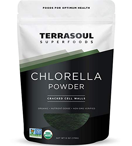 Terrasoul Superfoods Organic Chlorella Powder (Cracked Cell Walls), 6 Ounces - Sourced from Taiwan
