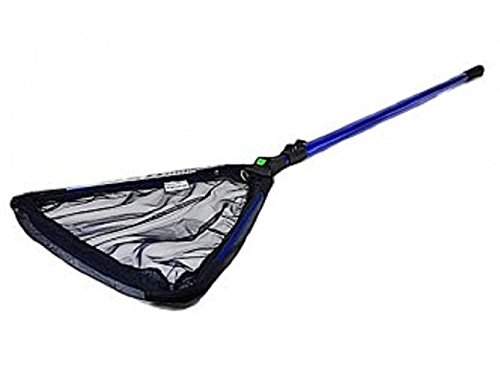 PondH2o Water Garden Koi Fish Pond Skimmer Catching Net with Fine 2mm Course mesh, w/Fold-Over Collapsible Head Telescopic Pole