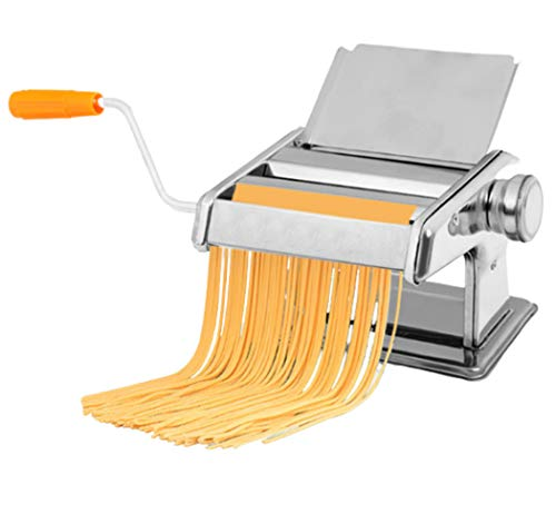 Manual Pasta Maker Machine Stainless Steel Pasta Making Machine Deeg Roller voor spaghetti en lasagne Tagliatelle Fettuccine 2 Blades