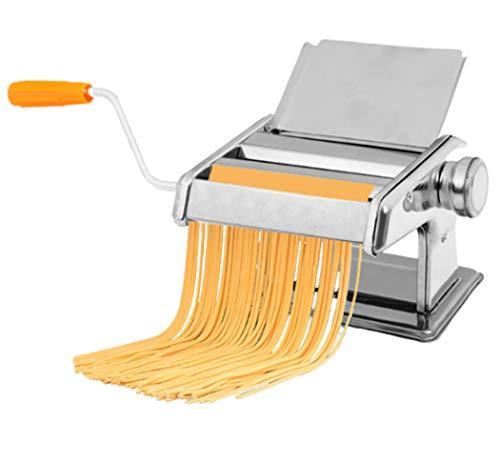 Manual Pasta Maker Machine Stainless Steel Pasta Making Machine Deeg Roller voor spaghetti en lasagne Tagliatelle Fettuccine 2 Blades