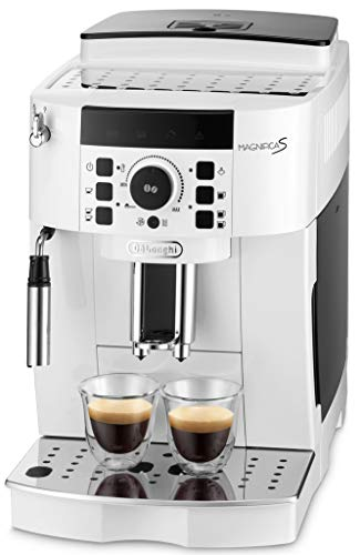 【エントリーモデル】デロンギ(DeLonghi) 全自動コーヒーメーカー マグニフィカS ミルク泡立て:手動 ホワイト ECAM22112W