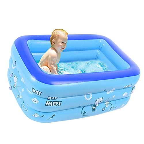Nicejoy Aufblasbare Badewanne, Kinder aufblasbarer Pool 120 x 80 x 50 cm Rechteckige Blow Up Dusche Pool Badewanne Hinterhof-Becken für Indoor & Outdoor