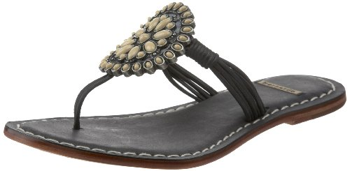 Bernardo Women's Mosaic Sandal,Black/Cream,5 M US
