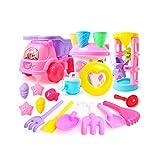 Liutoys Strand Auto Spielzeug Set von 20 Sand Spielzeug Sandkasten