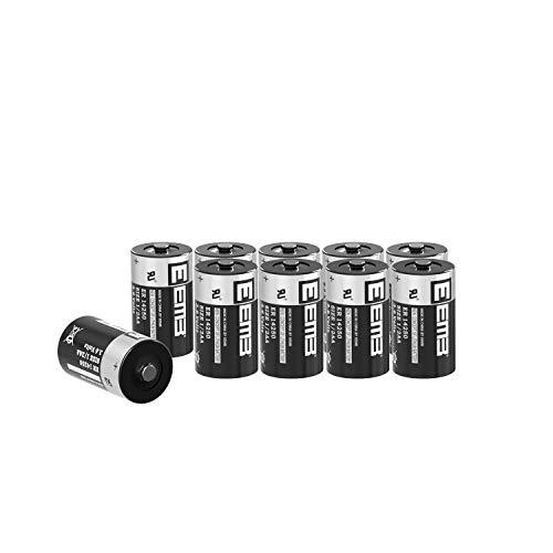 10X EEMB 3,6V 1/2 AA Pila de litio ER 14250 LS14250 Cloruro de Tionilo Batería (1200 mAh) para las máximas exigencias industriales - No recargable