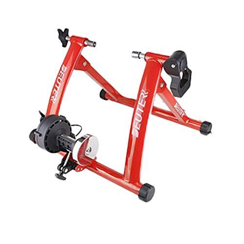 Ganmaov Fahrrad Rollentrainer Stahl Fahrrad Übung Ständer mit Geräusch Reduktions Rad MT-04 55x20x60.5cm (Rot)