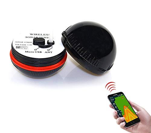 Pesca Accesorios De Barco Aparato De Pesca De Sonar De Alta DefinicióN con Detector De Peces Inteligente Bluetooth para TeléFonos MóViles,Black