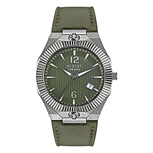 Versus Versace Echo Park - Reloj de pulsera para hombre (42 x 47 mm), color verde