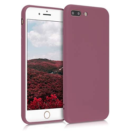 kwmobile Cover Compatibile con Apple iPhone 7 Plus / 8 Plus - Custodia in Silicone Effetto Gommato - Back Case Protezione Cellulare - Cipria Scuro