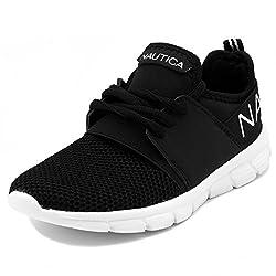 top rated Nautica Kids Boys Sneakers Comfortable Sneakers-KappilYouth-Black-13 2021