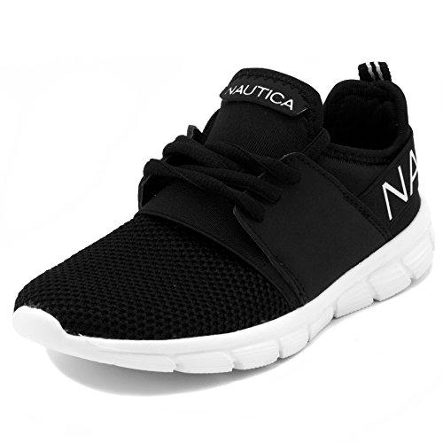 Nautica Kids Boys Sneaker Comfortable Running Shoes-Kappil Youth-Black-3