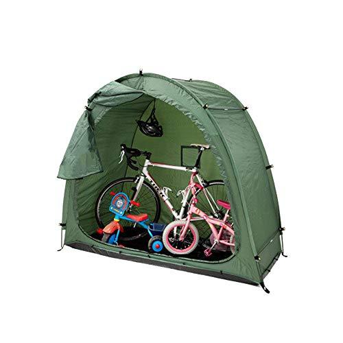Grönt cykeltält, regntätt och dammtätt skydd, hushållsskräp trädgårdsförråd
