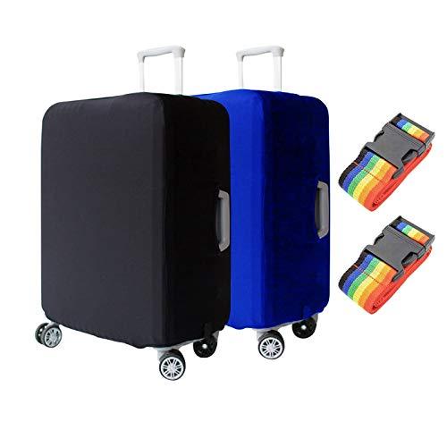 Zuzer 2PCS Copri Valigia da Viaggio Bagaglio Cover Elastico Copri Valigia Suitcase Cover con 2PCS Cinghia Valigia