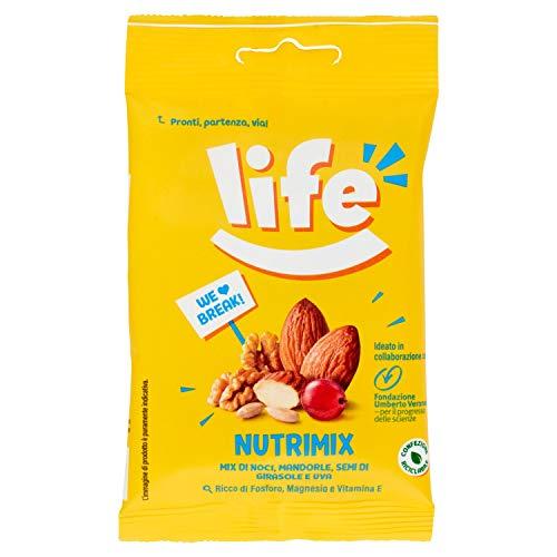 Life Nutrimix Break, Mix Frutta Secca, Ideato con Fondazione Umberto Veronesi, Snack Frutta Disidratata e Semi, Mix di Mandorle, Cranberries, Nocciole, Semi di Girasole e Semi di Zucca, 30 Grammi