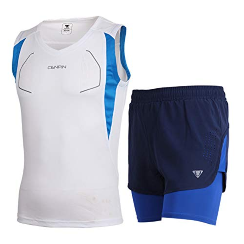 Trainingspak Set Marathon Running Suit Sneldrogend Sportswear Dedicated Vest Shorts Materiaal Polyester PL