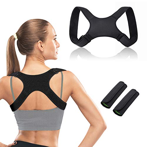 Back Straightener Posture Corrector, CHARMINER AdjustableBack Straightener for Natural Pain Relief,...