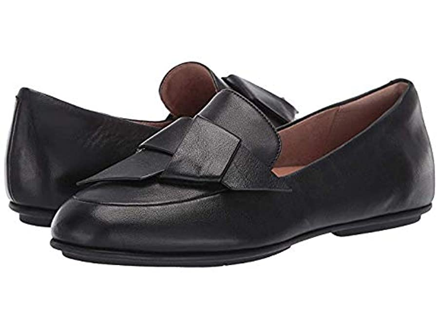 枯渇する距離トランクライブラリレディースローファー?靴 Lena Knot Loafers All Black (28.5cm) M (B) [並行輸入品]