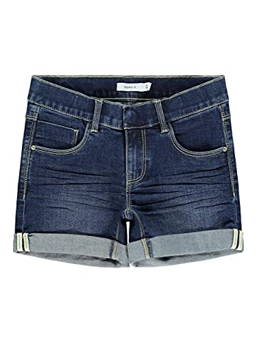 NAME IT Girl Jeansshorts Slim Fit 158Dark Blue Denim