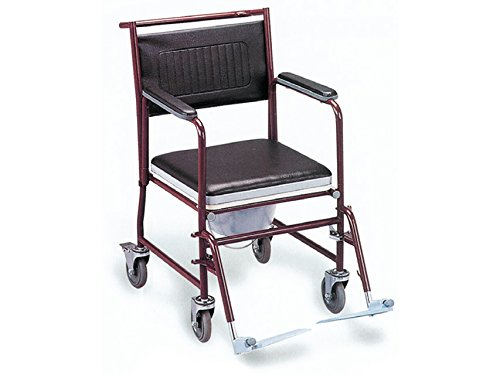 GIMA S.p.A FS-691 Commode Wheelchair With Castors - Painted
