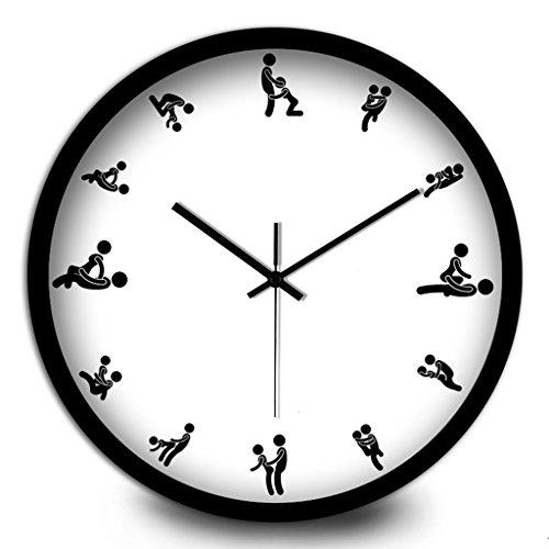 Adulte Horloge murale créative Chambre Salon Décoration Cafe Mute Electronic Quartz (Couleur : # 3, taille : 30cm)