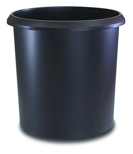Läufer 26502 Papierkorb Allrounder 18 Liter, braun, rund, Mülleimer mit Griff, stabiler Kunststoff