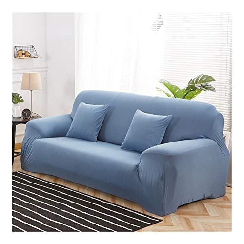 ZIJ Funda elástica para sofá de sala de estar, funda de sofá de 1/2/3/4 plazas, fundas de algodón baratas Copridivano (color 17, tamaño: 2 plazas, 145 185 cm)