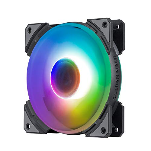 GOLDEN CAMPO MH-F colorido PC caso ventilador 120mm color arco iris silencioso LED ventilador de refrigeración para PC PC PC caso CPU refrigerador radiador