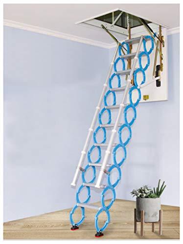 Loft invisible Escalera de aleación Agujero Retráctil Ático plegable Escaleras Escalera de techo Bisagras Bisagras 2M-4M (Custom height,Hole?80cm*140cm)