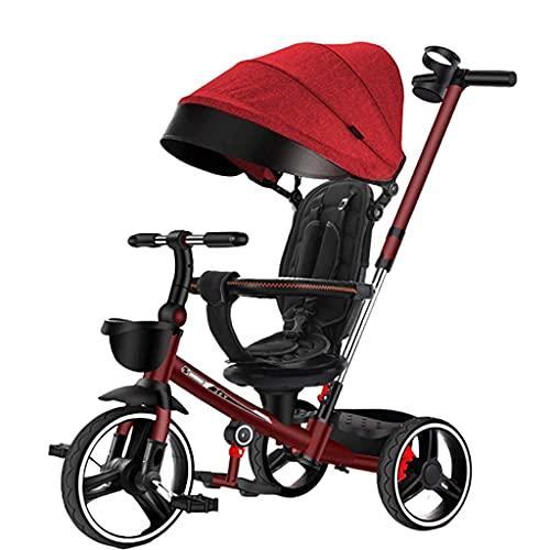 Triciclos Triciclo Trike Baby Carrito de bebé Triciclo para niños Bicicleta Ligero Ligero Ligero ¿No necesita instalarse el soporte de la taza de cochecito ajustable del cochecito (color: D) (Color: D