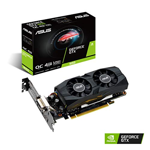 The ASUS GeForce GTX 1650 OC Edition 4 GB GDDR5, Scheda Video Gaming e HTPC, Design Low Profile, Tecnologia AutoExtreme e Backplate