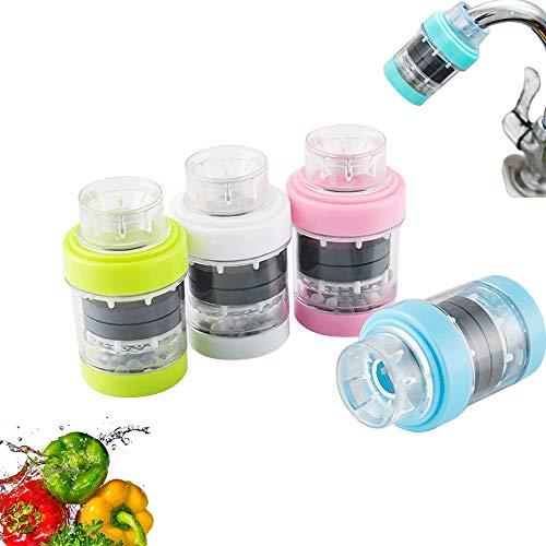 Filter uisge faucet magnetach, faucet uisge sìoltachain purifier 4pcs, sàbhaladh uisge dòrtadh uisge cidsin