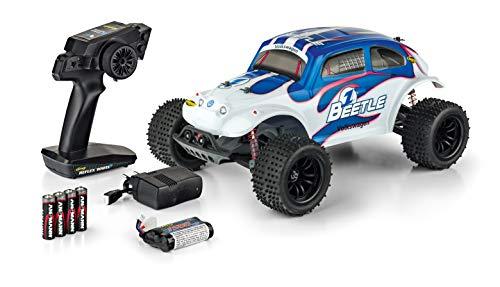 Carson 500404142 - 1:10 VW Beetle FE 2.4GHz 100% RTR, afstandsbediening auto/voertuig, RC-voertuig, incl. batterijen en afstandsbediening, 2 WD, bedrukte carrosserie, handleiding, Off Road Truggy