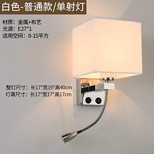 RAQ Moderne stoffen wandlamp creatieve slaapkamer-LED-bedlampje eenvoudig opgeladen wandlamp met USB-interface hotel-wandlamp D