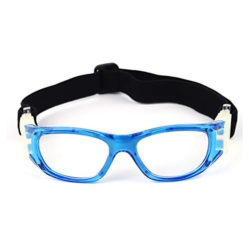 Ohhome Niños Gafas de Baloncesto Ultraligero UV400 Ajustable A Prueba de Viento A Prueba de Polvo Anti-vaho Gafas de Seguridad Protectoras para fútbol Voleibol Béisbol