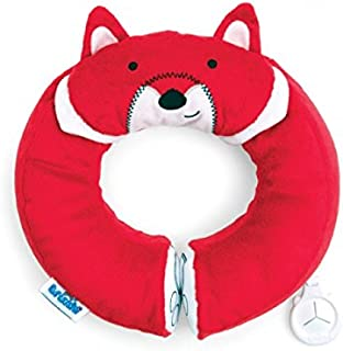Trunki Kid's Travel Neck Pillow with Magnetic Child's Chin Support - Yondi Small Felix Fox (Red)