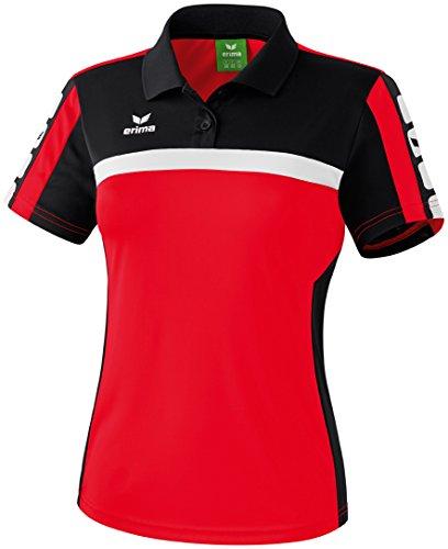 Erima Classic 5-C poloshirt, rood/zwart/wit, 34