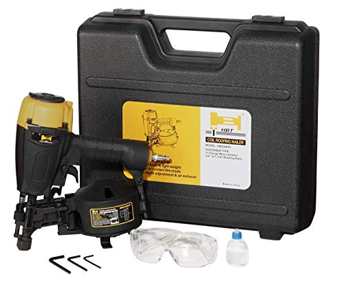 HBT HBCN45P 3/4'' to 1-3/4'' Coil Roofing Nailer with Magnesium