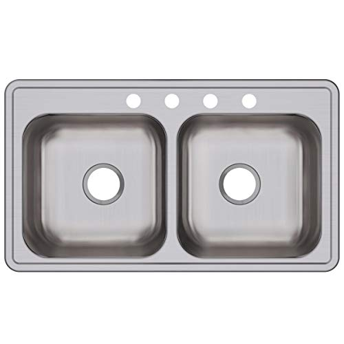 Elkay DSE233194 Dayton Equal Double Bowl Drop-in Stainless...