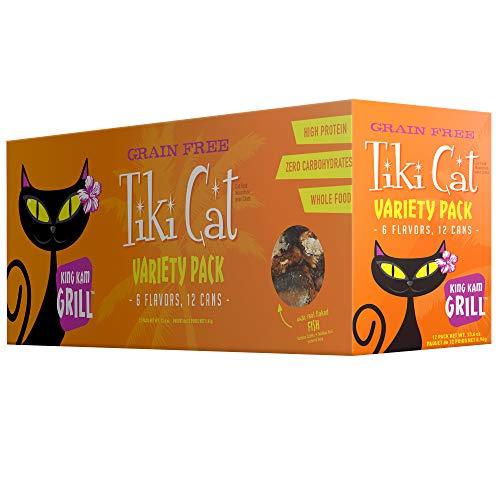 Tiki Cat Gourmet Whole Food 12-Pack King Kamehameha Luau 9-Flavor Variety Pack Pet Food