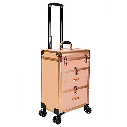 Suitcase Embossing Flowers 4 Wheels Light Pink Number Lock?350mmX235mmX500mm?