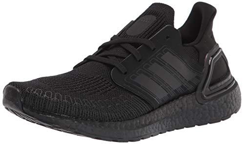 adidas Men's Ultraboost-20 Running Shoe, Black/Black/Solar Red, 4