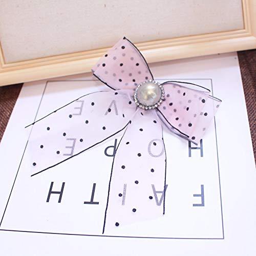 THTHT Luxe Strass Boog Broche Voor Vrouwen Shirt Pak Jurk Accessoires Vlinder Muziek Geschenken Party Casual Cravat Dames Roze