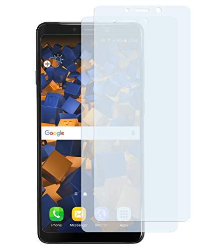 mumbi Schutzfolie kompatibel mit Samsung Galaxy A9 2018 Folie klar, Bildschirmschutzfolie (2X)