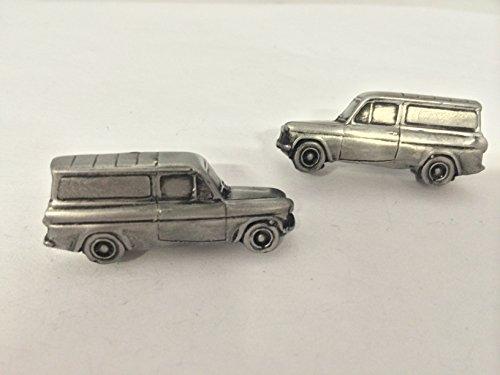 Ford Anglia 105EVan 3D-Boutons de manchette Homme-Classique-Bouton de manchette en étain effet ref71