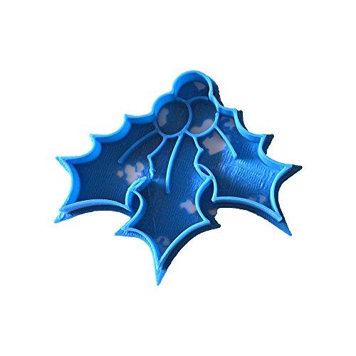 Cuticuter Navidad Muerdago Cortador de Galletas, Azul, 8x7x1.5 cm